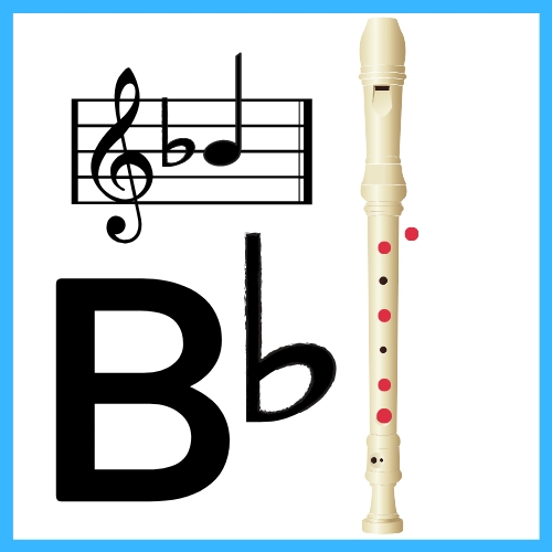 b flat on recorder