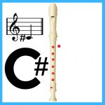 how to play c sharp on recorder