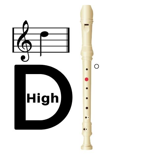 recorder high d