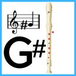 how to play g sharp on recorder