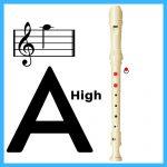 High a note in soprano recorder