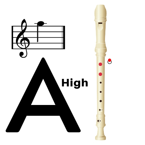 How to play high a on recorder