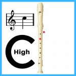 how to do a high c on recorder