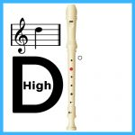 how to play high d on recorder