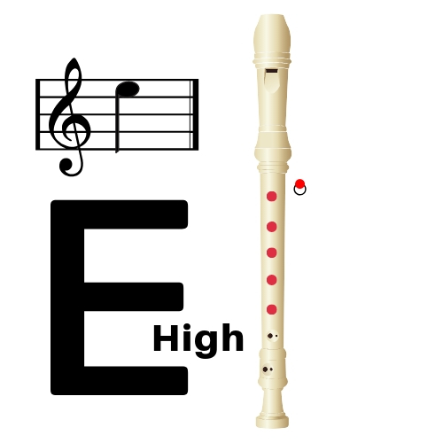 how to play high e on recorder