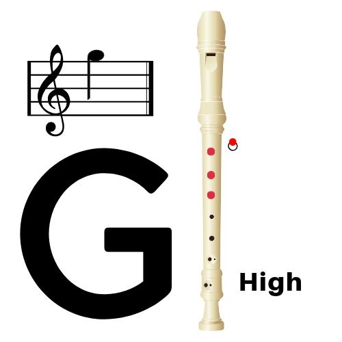 fingering for high g on soprano recorder