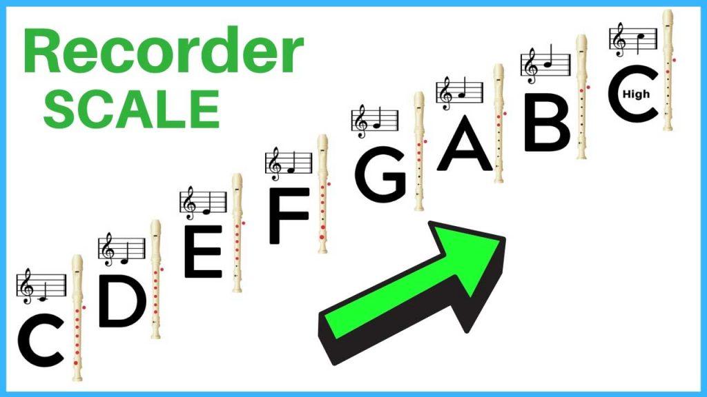 soprano recorder scale