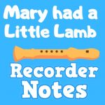 mary had a little lamb recorder notes