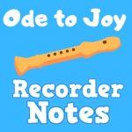 ode to joy recorder