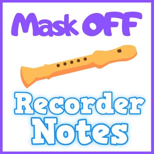 Mask Off on Recorder