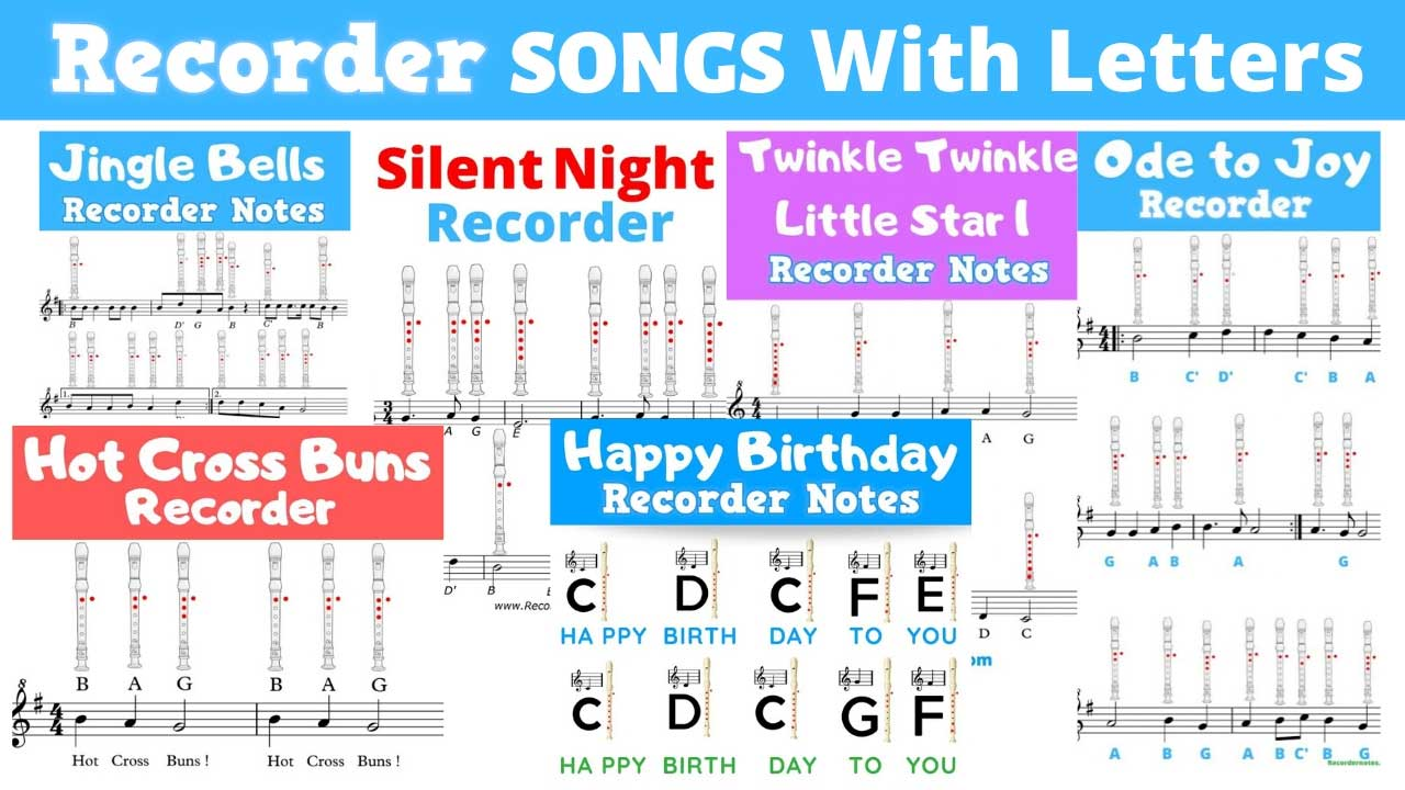 recorder songs for beginners with letters