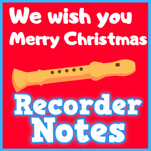 we wish you a merry christmas recorder notes with letters