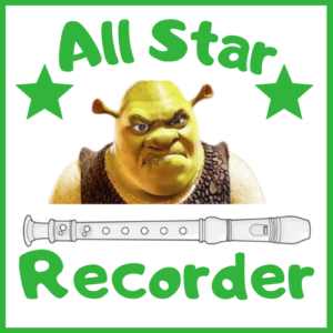 all star on recorder