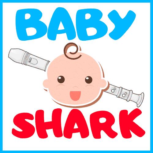 Baby Shark Recorder Notes